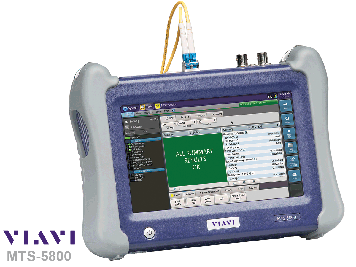 VIAVI MTS-5800 Hand held network test device - Viavi Turkey
