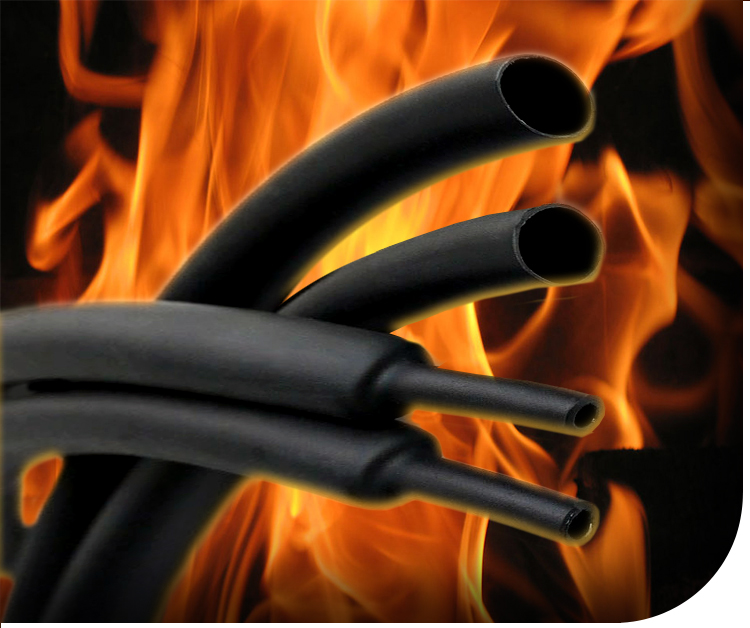 Heavy Wall Flame Retardant Heat Shrink Tubing HFRA3 Hongshang - 2