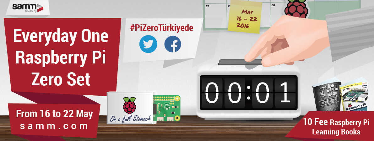 Raspberry Pi ZERO is in Turkey again.