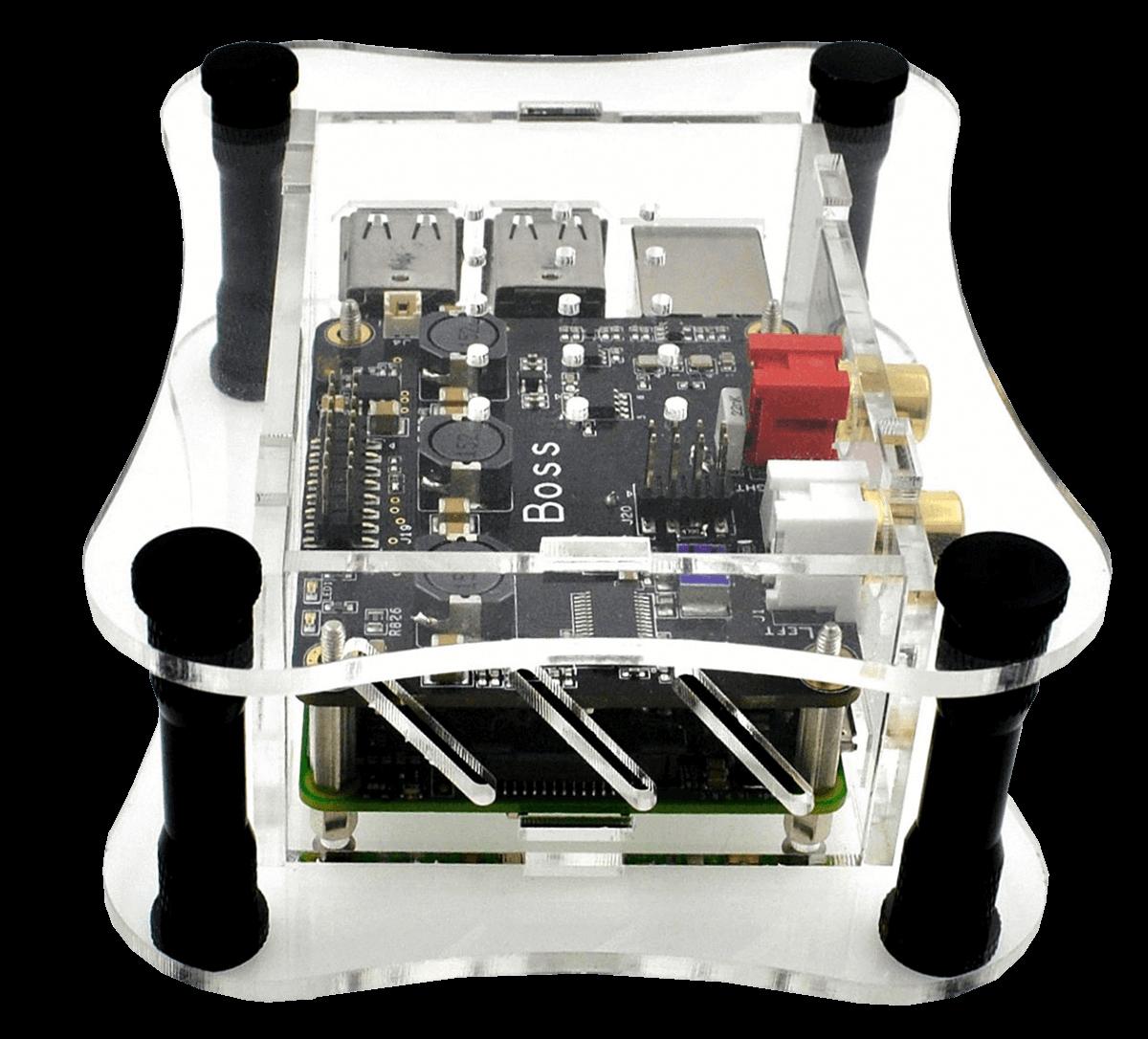 Clear Acrylic Case For Raspberry Pi Boss Dac