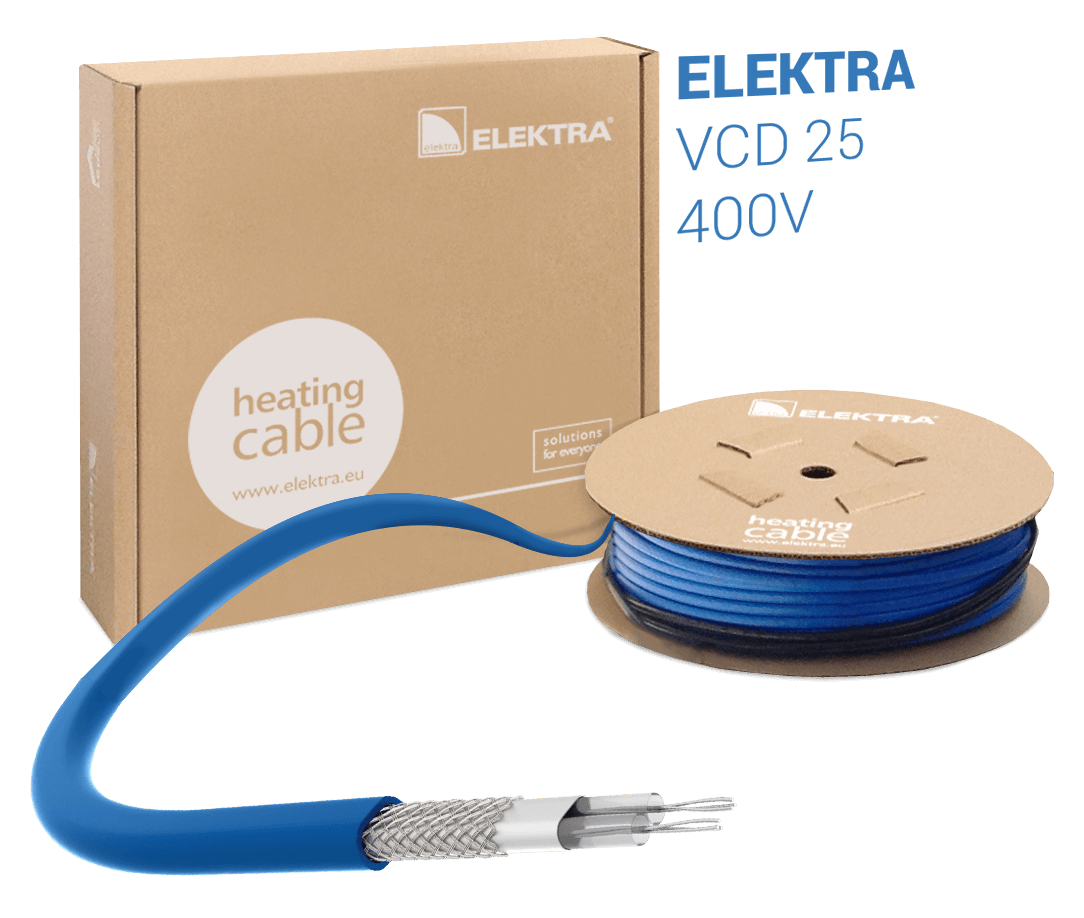 ELEKTRA VCD 25 W/m 400V Snow and Ice Protection Heating Cable