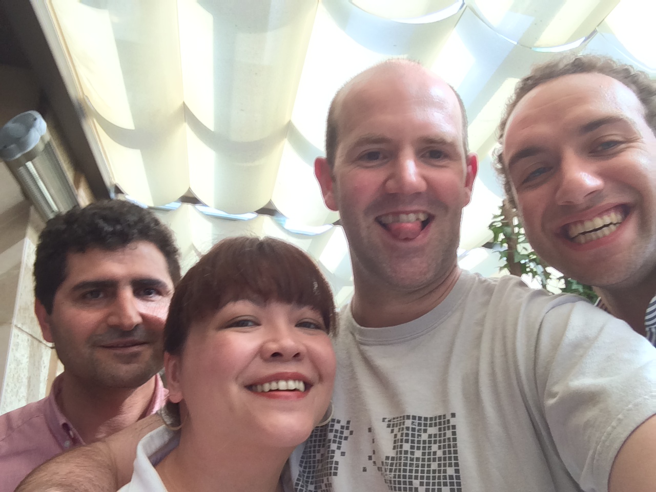 Selfie with Raspberry Pi CEO Eben and Liz Upton in Istanbul