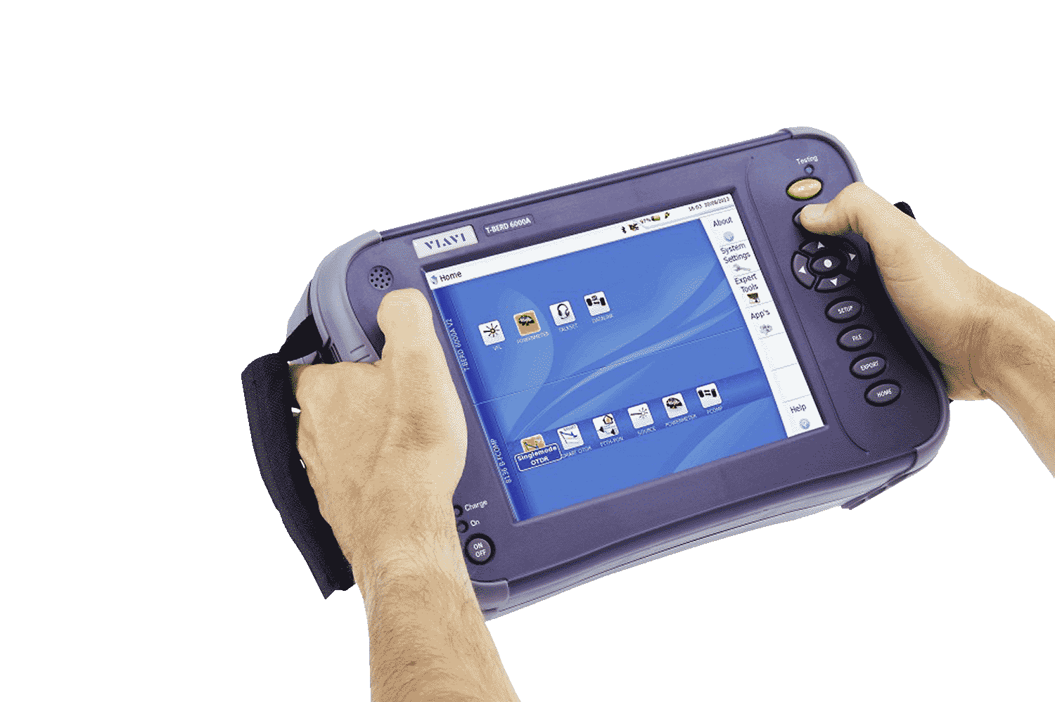 hand-held-VIAVI-mts-6000A-fiber-optic-test-device-
