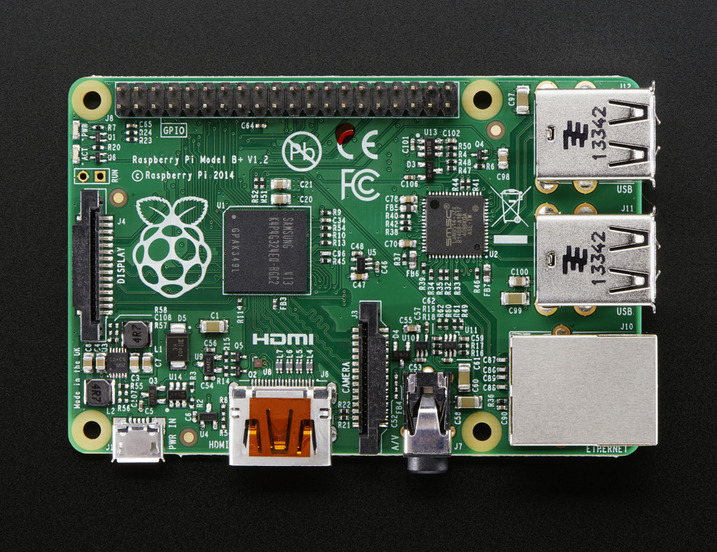 Raspberry Pi Model B+ Top view