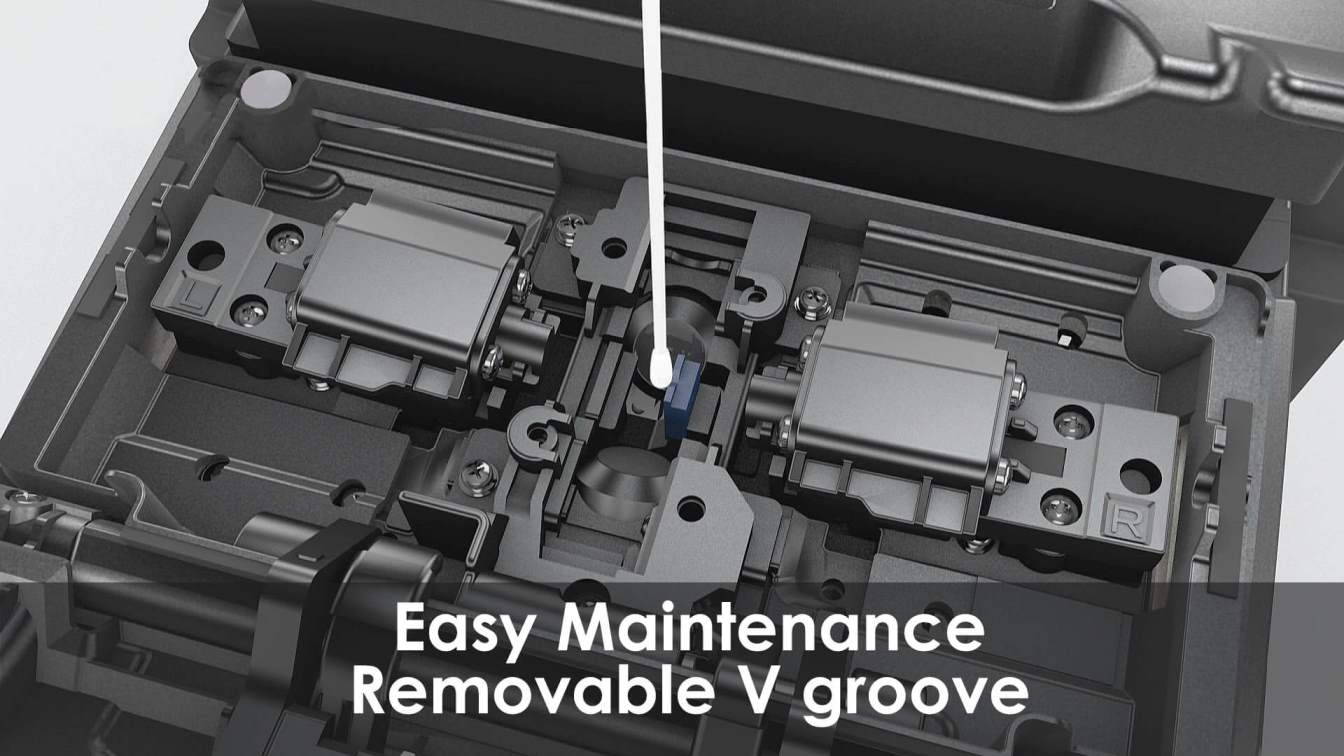 Fusion Splicing S179 - Easy maintenance - Removable V groove