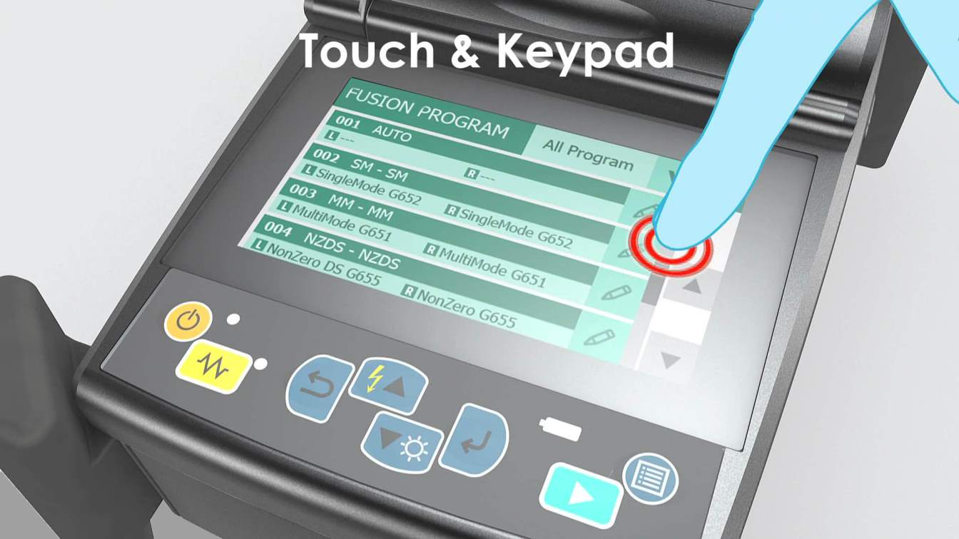 Fusion Splicing S179 - Touch Screen and Keypad control