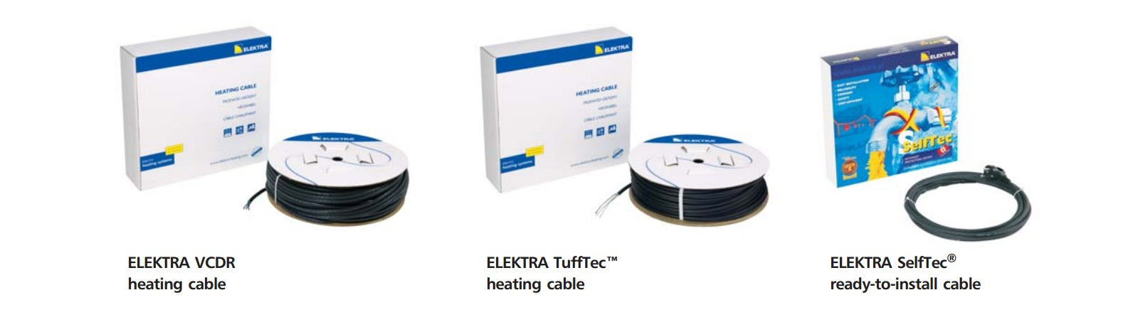 Heating cables frost protection cable accessories ELEKTRA 62