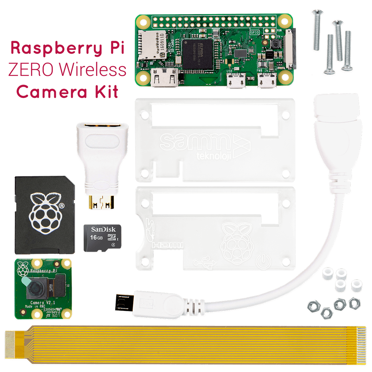 Raspberry-Pi-zero-wireless-Camera-Kit