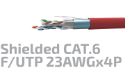 Shielded Data Cable Cat.6A F/UTP 23AWGx4P