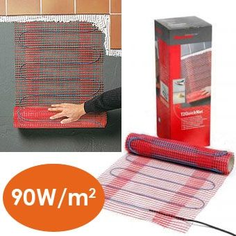 Raychem T2 Quicknet - Self adhesive constant wattage heating mats 90 W/m2