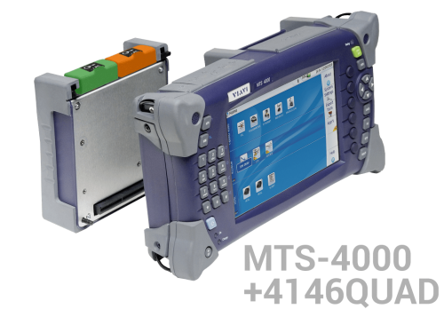 KİT MTS-4000 + 4146 QUAD MM/SM OTDR modül