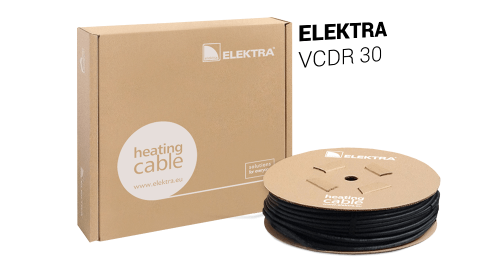 ELEKTRA VCDR 30 Heating Cable - Snow/Ice Protection for Roof and Gutter