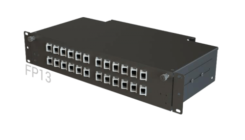 FP13 Fiber Optic Rack Patch Panel / Angled Front-Plate Slide-Out 24 Ports 2U 2-Rows SC-LC