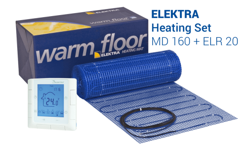 Underfloor Heating Set - MD-160 Mat + ELR 20 Controller