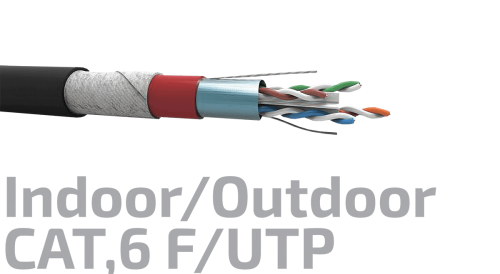 Shielded Data Cable Indoor/Outdoor CAT.6 F/UTP 23AWGx4P
