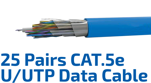 CAT.5e U/UTP 24AWG x 25P Data Cable