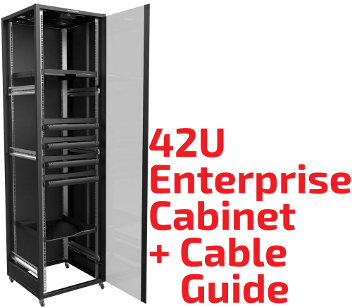 22U/42U Enterprise Rack Cabinet with Cable Guide