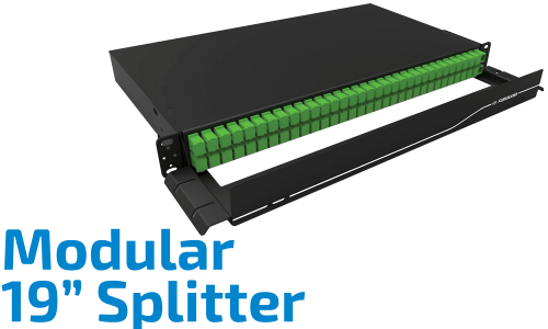 "Modüler 19"" Optik Splitter"