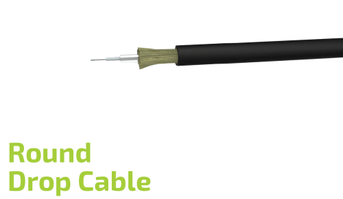 Round Fiber Optic Drop Cable