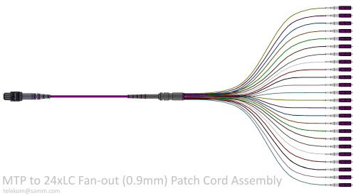 MTP to 24xLC Fan-out (0.9mm) Patch Cord Assembly