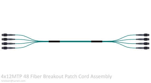 4x12MTP 48 Fiber Breakout Patch Cord Assembly