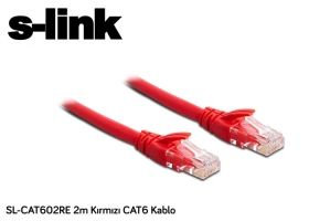 Red Cat6 Etjernet Cable 2m