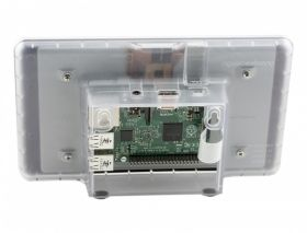 "Raspberry Pi 7"" Touchscreen Display Case - Clear"