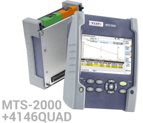 KİT MTS-2000 + 4146 QUAD MM/SM OTDR modülü