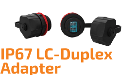 Endüstriyel LC-Duplex Optik Adaptör - IP67