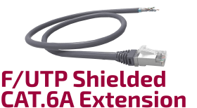F/UTP CAT.6A Shielded Copper Extension Cable
