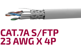 Shielded Data Cable Cat.7A S/FTP 23 AWG x 4P