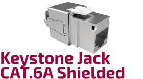 Shielded CAT.6A Keystone Jack