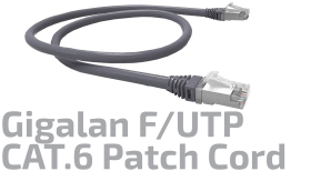 F/UTP CAT.6 Shielded Copper Patch Cord