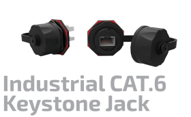 F/UTP CAT.6 Industrial Shielded Keystone Jack