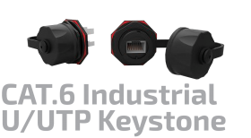 U/UTP CAT.6 Industrial Keystone Jack