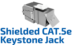 CAT.5e F/UTP Shielded Keystone Jack