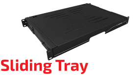 "Sliding Tray - 19"" Rack"
