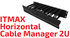 ITMAX Horizontal Cable Manager 2U