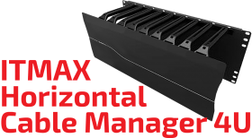 ITMAX Horizontal Cable Manager 4U