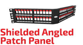 Angled Shielded Patch Panel