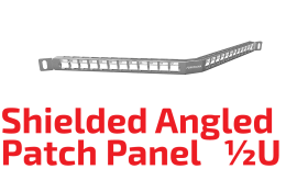 ½U Angled Shielded Patch Panel