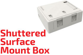 Shuttered Surface Mount Box