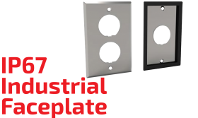 Industrial IP67 Faceplate