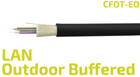 Buffered Outdoor Fiber Optic LAN Cable