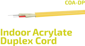 COA-DP Indoor Duplex Acrylate Fiber Optic Zip Cord