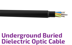 Underground Buried Dielectric Fiber Optic Cable