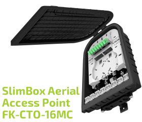 SlimBox™ Aerial Drop Terminal Box FK-CTO-16MC