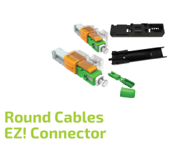EZ! SC Connector for Round Cables