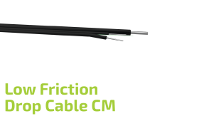 Low Friction Drop Fiber Optic Flat Cable (CM)