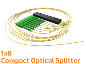 1x8 Compact Optical Splitter